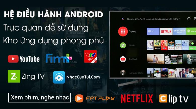 Android 8.0 trên Sony 85x9500g