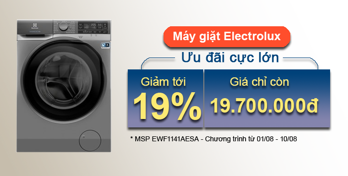 Siêu khuyến mãi Máy giặt Electrolux EWF1141AESA