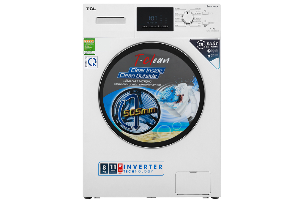 Máy giặt TCL Inverter 8 Kg TWF80-M14303DA03