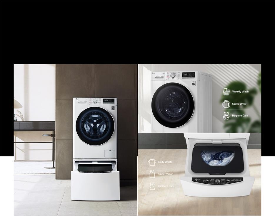 Máy giặt lồng ngang thông minh LG AI DD 9kg FV1409S3W