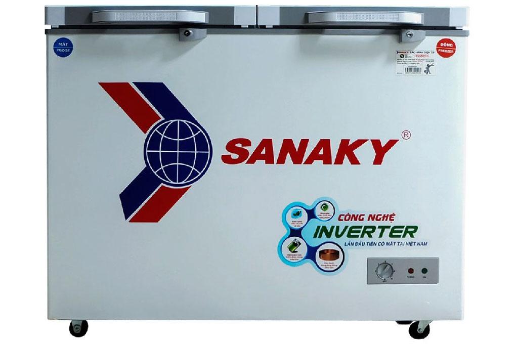 Tủ đông Sanaky Inverter 280 lít VH4099W4KD (mặt kính cường lực)
