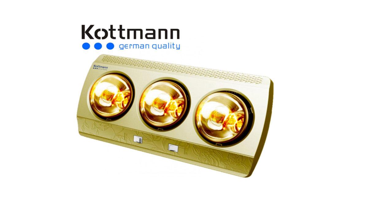 Đèn Sưởi Nhà Tắm Kottmann K3B-G 3 Bóng Treo Tường