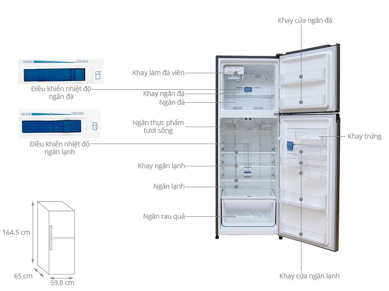 Tủ lạnh Electrolux Inverter 317 lít ETB3200GG
