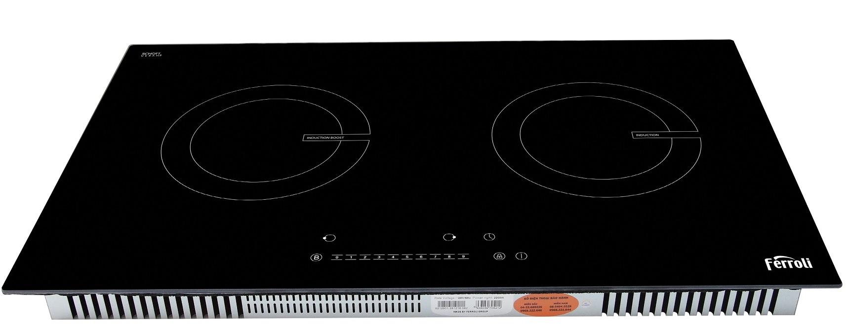 Bếp từ đôi Ferroli kính Schott, điều khiển số - ID4000BN
