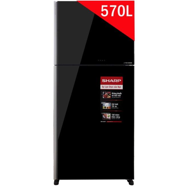 Tủ lạnh Sharp SJ-XP570PG-BK 570 lít 2 cửa Inverter