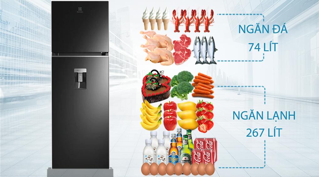 Tủ lạnh Electrolux Inverter 341 lít ETB3760K-H